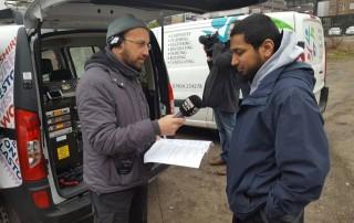 homeless radio interview